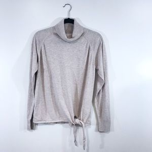 [Gap] Beige Turtleneck Tie Waist Knit Sweatshirt